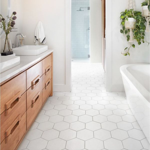 Browse Honeycomb White Gloss Hexagon 17